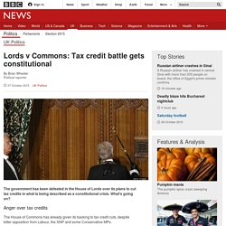 Lords v Commons: Tax credit battle gets constitutional