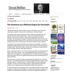 The Commons as a Different Engine for Innovation