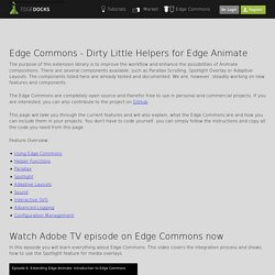 Edge Commons - Extension Library for Edge Animate and Edge Reflow