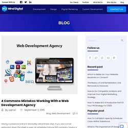 4 Commons Mistakes Working With a Web Development Agency