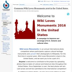 Commons:Wiki Loves Monuments 2016 in the United States