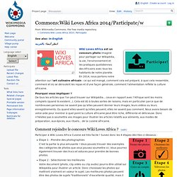Commons:Wiki Loves Africa 2014/Participate/w