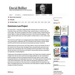 Commons Law Project | David Bollier