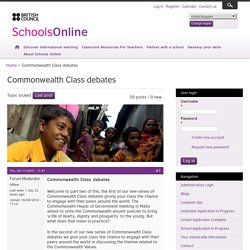 Commonwealth Class debates