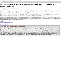 Le Commonwealth promet d'aider le Cameroun dans la lutte contre la cybercriminalité