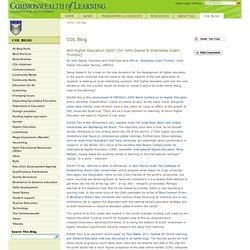 Will Higher Education Split? (Sir John Daniel & Stamenka Uvalić-Trumbić)