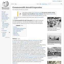 Commonwealth Aircraft Corporation