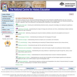 National Centre for History Education - Commonwealth History Project
