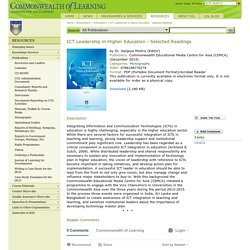 ICT Leadership in Higher Education - Selected Readings