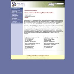 Virginia Commonwealth University School of Social Work