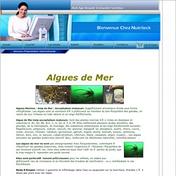 Commplément algue marines kelp de mer iode vitamines
