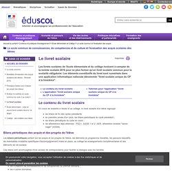Le socle commun et l'évaluation des acquis - Le livret scolaire
