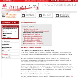 Wallonie.be : Elections 2012