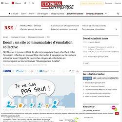 Koom : un site communautaire d'émulation collective
