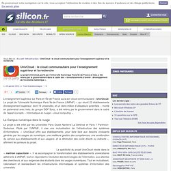 UnivCloud : le cloud communautaire pour l'enseignement supérieur et la recherche