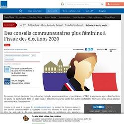 Des conseils communautaires plus féminins à l'issue des élections 2020