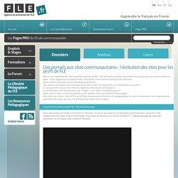 Des portails aux sites communautaires : l'évolution des sites pour les profs de FLE