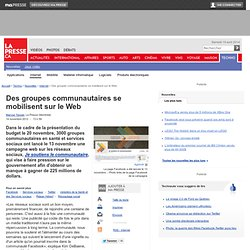 Des groupes communautaires se mobilisent sur le Web