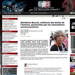 Bénédicte Bauret, militante des droits de l'homme, persécutée par les associations communautaires