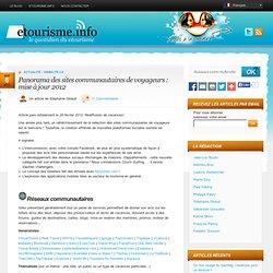 Panorama des sites communautaires de voyageurs : mise à jour 2012