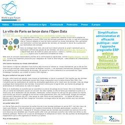 La ville de Paris se lance dans l'Open Data « World e.gov forum
