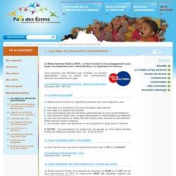 Communauté de communes Pays des Ecrins - Les aides aux démarches administratives