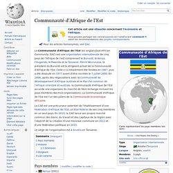 Communauté d'Afrique de l'Est