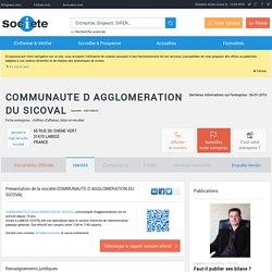 COMMUNAUTE D AGGLOMERATION DU SICOVAL (LABEGE) Chiffre d'affaires, résultat, bilans sur SOCIETE.COM - 243100633