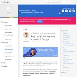 Augmenter les signaux envoyés à Google - Communauté des Annonceurs Google