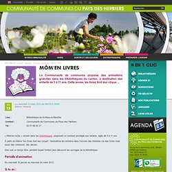 Communauté de Communes du Pays des Herbiers (85) - Enfance / Jeunesse : Môm'en livres