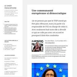 Une communauté européenne si démocratique