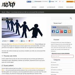 Les principes de base pour bâtir une communauté Web enrichissante