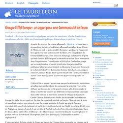 Groupe Eiffel Europe : un appel pour une Communauté de l'euro
