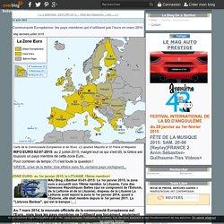 Communauté Européenne: les pays membres qui n'utilisent pas l'euro en mars 2014 - J. Barthet , blog personnel.
