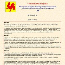 Communauté française de Belgique: Décret sur la défense de la langfue française
