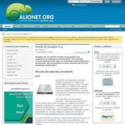 Alionet communauté francophone sur openSUSE, SUSE et Linux - Sortie de snapper 0.3