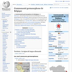 Communauté germanophone (Wikipedia)
