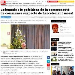 Créonnais : le président de la communauté de communes suspecté de harcèlement moral