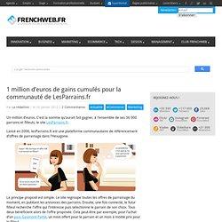 1 million d'euros de gains cumulés pour la communauté de LesParrains.fr