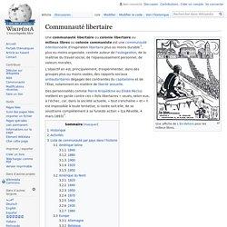 Communauté libertaire