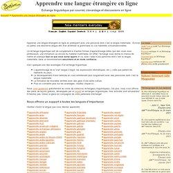 Apprendre une langue étrangère en ligne: communauté d'échanges linguistiques