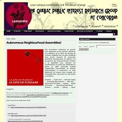 communauté – recherche – résistance » (Mise-à-jour) Assemblées de quartiers autonomes !