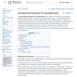Communauté française du renseignement