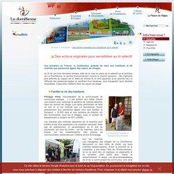 Communauté de communes de La Domitienne - Des actions originales pour sensibiliser au tri sélectif