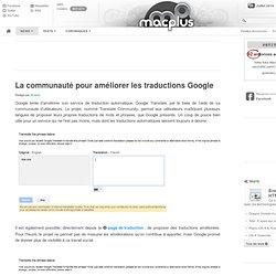 La communauté pour améliorer les traductions Google