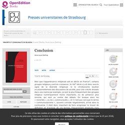 Minorité et communauté en religion - Conclusion - Presses universitaires de Strasbourg
