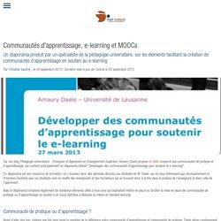 Communautés d'apprentissage, e-learning et MOOCs