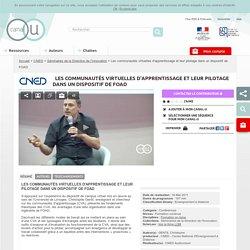 Les communautés virtuelles d'apprentissage et leur pilotage dans un dispositif de FOAD - CNED