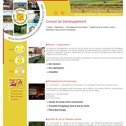Pays du Sud de l'Aisne - Union des Communautés de Communes du Sud de l'Aisne > Conseil de Développement