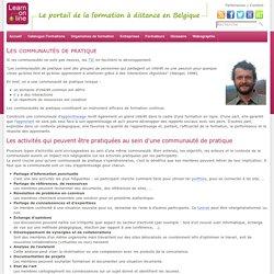 learn-on-line.be - Les communautés de pratique - Ressources_Formateurs - Formateurs